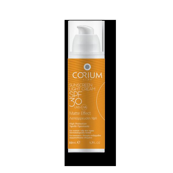 Sunscreen light cream spf30